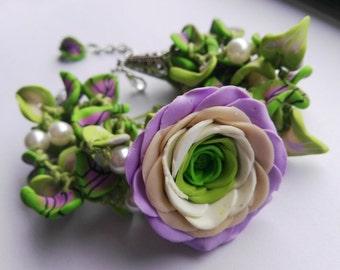 Spring Love Bracelet polymer clay