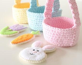 Easter Basket Cookies - Felt Easter Cookies - Felt Easter - Easter Basket - Play Food - Pretend Play - Pretend Food - Felt - Felt Cookies -