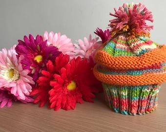 Multicoloured cupcake hat