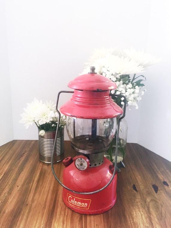 Vintage red coleman lantern 200a for Coleman s fish market