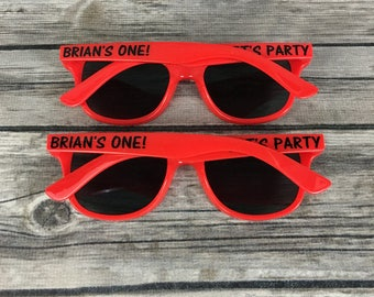 Let's Party KIDS Personalized Sunglasses, First Birthday Party Favors, Childrens Reusable Favor, Boys Birthday Party, Girls Birthday Party