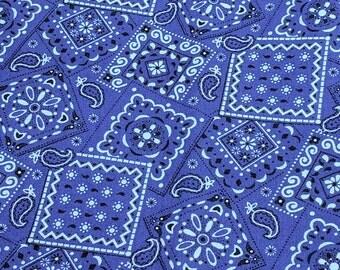 Purple Bandanna Pattern Cotton Fabric