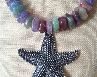 Necklace - Starfish - necklace sea star summer of agates