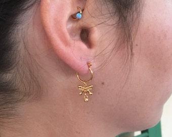 Goldfilled earrings, Dangle earrings, Drop earrings, Gold earrings, Goldfilled dangle earrings, Gold drop earrings, Hoop Goldfilled earrings