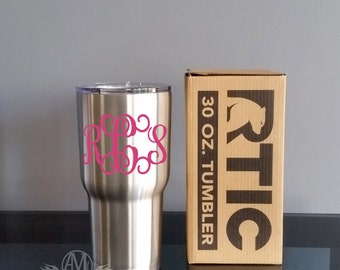 Personalized Stainless steel cup,  RTIC Tumbler cup, Stainless steel Tumbler, Monogram tumbler, 30 oz tumbler, monogrammed gifts