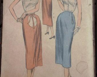 1952 Advance 6481 Maternity Skirt Pattern, Waist 26