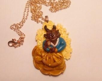 The Beauty the Beast miniature necklace fan art - Bella e Bestia fan art
