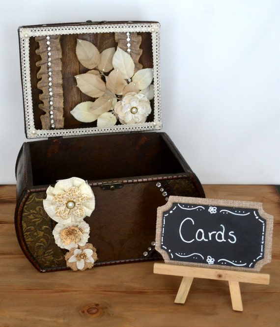 Wedding Card Box Card Box Rustic Card Box Card Holder