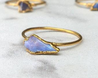Raw Opal Ring, October Birthstone, Australian Opal Ring, Stackable Opal Ring, Rough Opal Ring, Gemstone Ring, Natural Opal Ring OPA-G-R