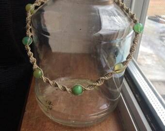 Hemp Choker / Dual Wrap Bracelet / Kids Necklace