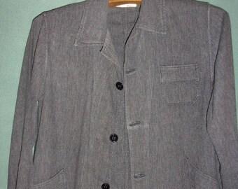 old grey gown of schoolboy, authentic school