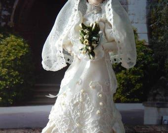 Edwardian Bride in OOAK gown