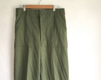 Vintage High Waisted Army Pants