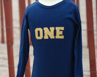 """Boys """"ONE"""" Birthday shirt Onesie"""