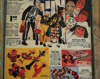 Vintage Halloween Ad magnets