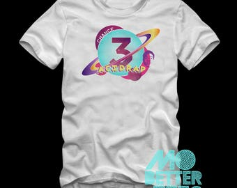 Custom Printed Chance The Rapper White theme Graphic T-Shirt Acid Rap