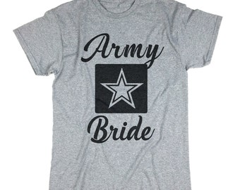 Army Bride Shirt. Bride Shirt. Bridesmaid Shirts. Bachelorette Party Shirts. Bride Gift. Bridesmaid Gift. T-shirt. Tshirt.