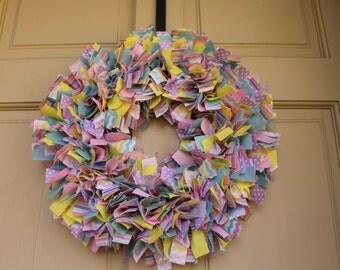 Easter/Spring Rag Wreath