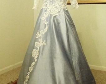 Dupion Silk & Guipure Lave Sample Wedding Dress (size 16)