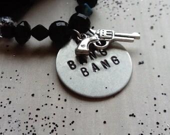 bang bang - beaded charm bracelet