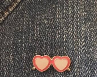 Pink Sunglasses Enamel Pin