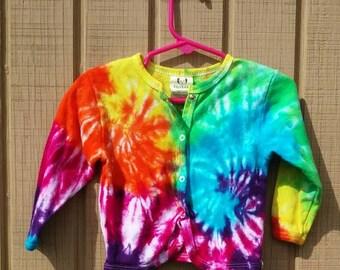 Baby girl tie dye sweater