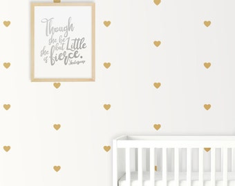 Love Heart Shape Nursery Wall Decals / Stickers