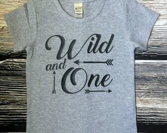Wild and One 1st Birthday Shirt, Wild One Birthday Shirt, Boy first Birthday Shirt