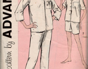 """Advance 1960's Pajama's pattern 9322, size 16, bust 36"""", complete, used"""