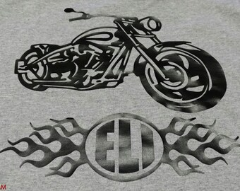 Children's motorcycle shirt with initials