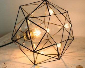 Hanging  lamp - Pendant lamp - Geometric Lamp - Home decor - Wedding table decor - Loft Light - Industrial Lamp - Chandeliers lamp