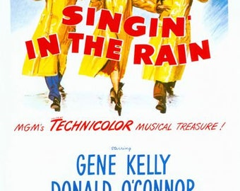 Singing In the Rain Movie Poster  A3/A2/A1 Print