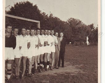 Vintage Photo - Men Photo - Football players - Soccer players - Gang of Polish Youth - Sportsmen - Vintage Snapshot - Polish Photo