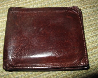 Vintage Mens COACH Brown Leather Billforld 6 ID Wallet Gently Used