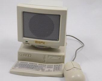 Mini Computer Styled Radio, Gran Prix, FM AM Radi, Miniature Radio, computer geek gift