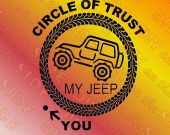 SVG File JEEP Circle of Trust Cut File
