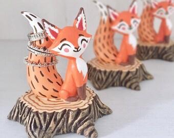 Fox Ring Holder, Orange