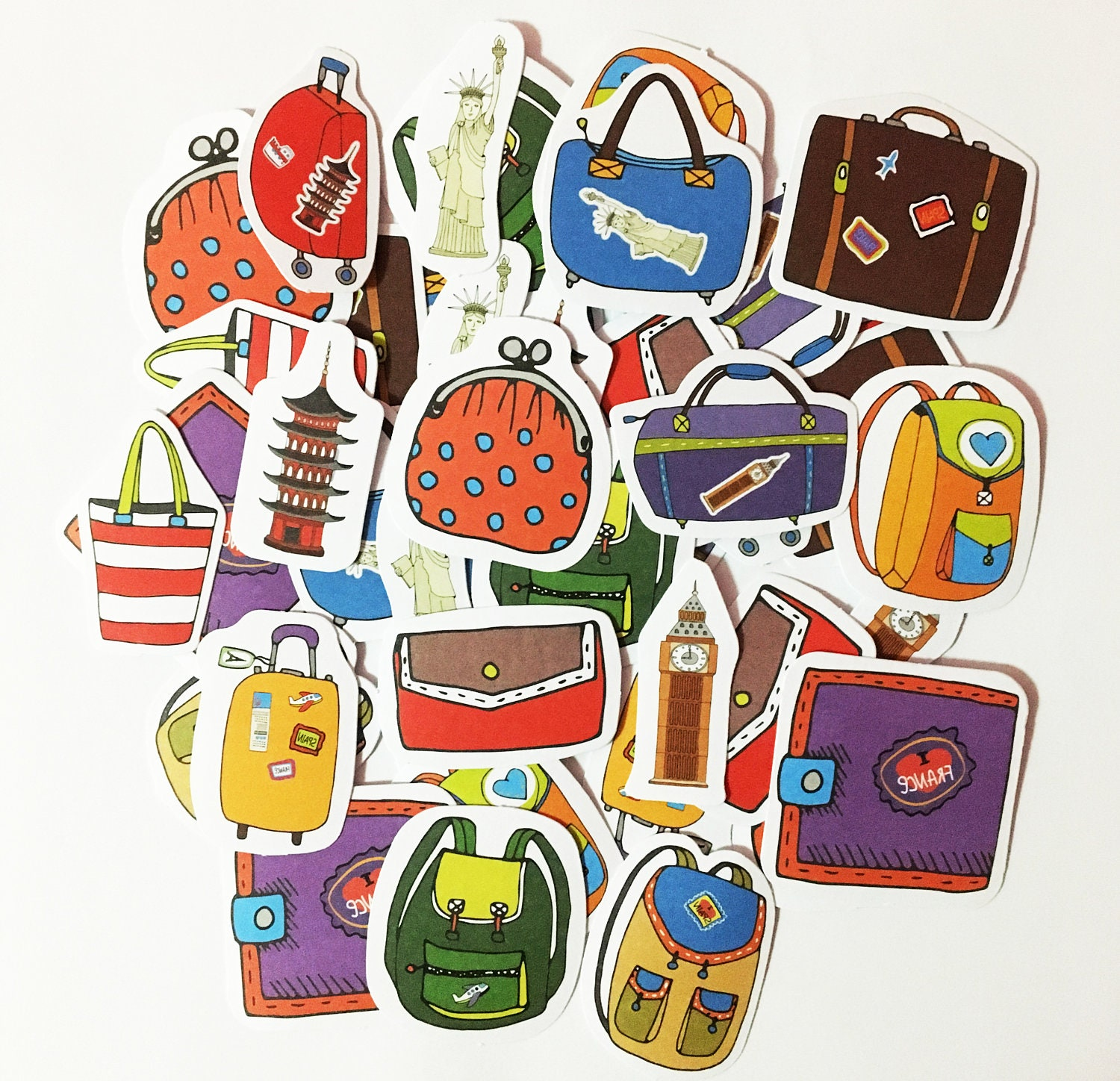 How to scrapbook a road trip - 45 Pcs Travel Bags Sticker Luggage Sticker Flakes Around The World Filofax Stickers Scrapbook Road Trip Schedule Sticker Vacation