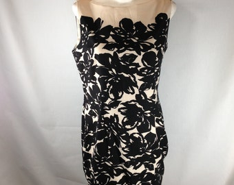 Chic dress, resort dress, floral dress, mod dress, retro style dress, sleevless dress,