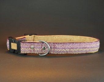 Designer dog collar, Size L, cork dog collar, pink dog collar, unique dog collar, light weight dog collar, - DRRB0916L1/1