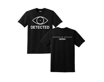 Skyrim T-Shirt, Skyrim, Detected Hidden Skyrim Shirt, Skyrim Clothing, Skyrim Detected and Hidden