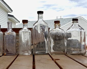 Vintage Glass Bottles & Old Medicine Bottles Rawleigh Jr Watkins Dr Kotchs 13 Bottles Rescued From An Old Farm in NC Montana