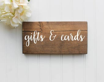 READY TO SHIP Gifts and Cards Sign| Wedding Gifts sign| Wood Wedding Cards Sign| Rustic Wedding Decor| Wedding Decor| Spring| Summer