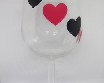 Valentine's Hearts Wine Glass