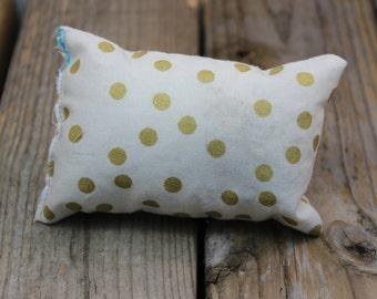 Gold polkadot catnip pillow