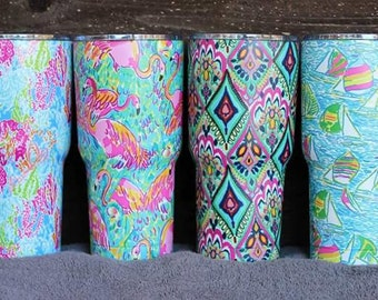 Lilly Pulitzer Inspired 30oz Tumbler