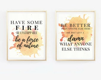 Grey's Anatomy Quote/ Print Duo