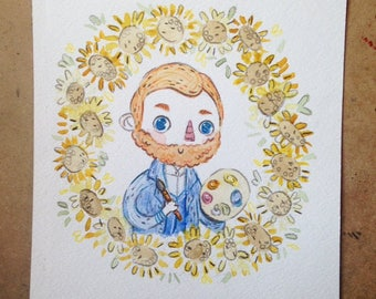 Van Gogh Watercolor Print
