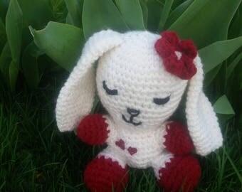 Sweet double heart bunny