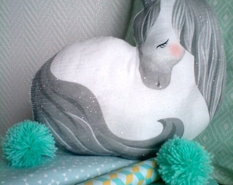 cushion musical Unicorn paillette